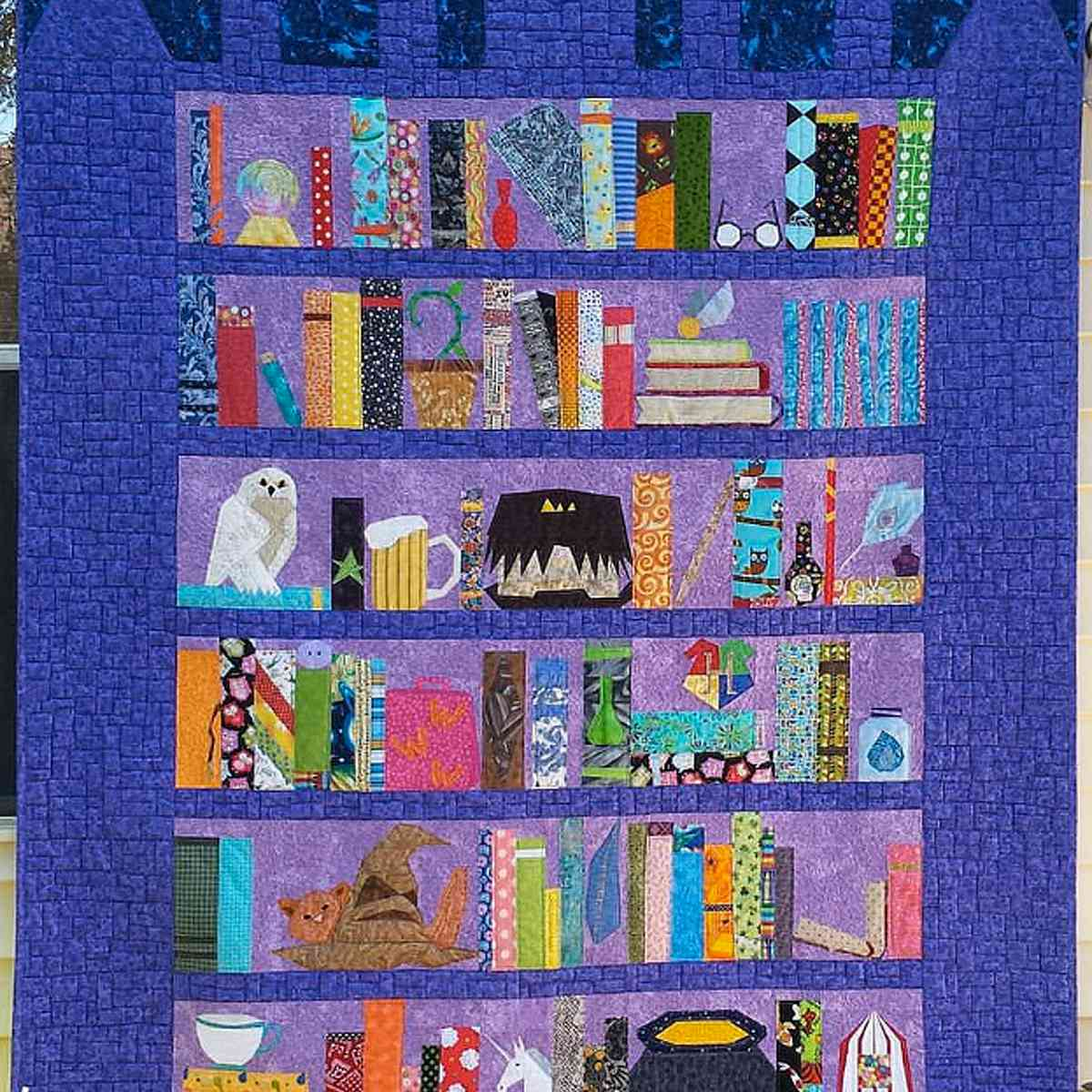 Harry Potter Bookcase Quilt Pattern