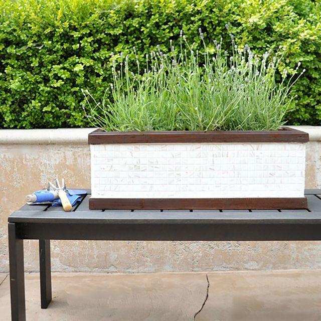 DIY Mosaic Tile Planter