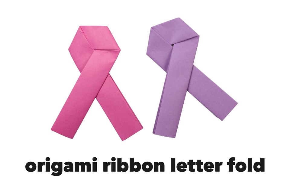 traditional origami ribbon letter fold 1