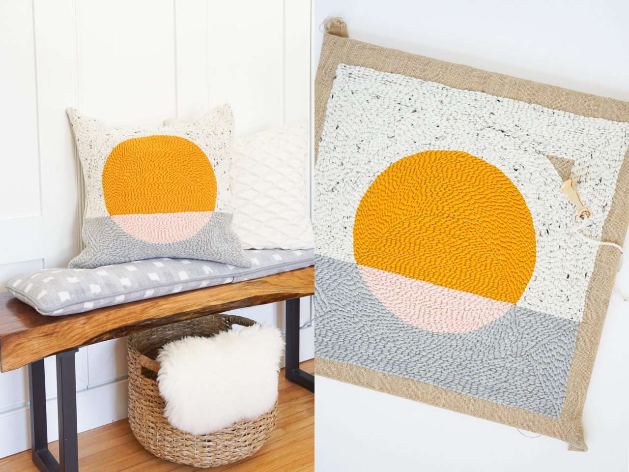 DIY Rug Hook Pillow