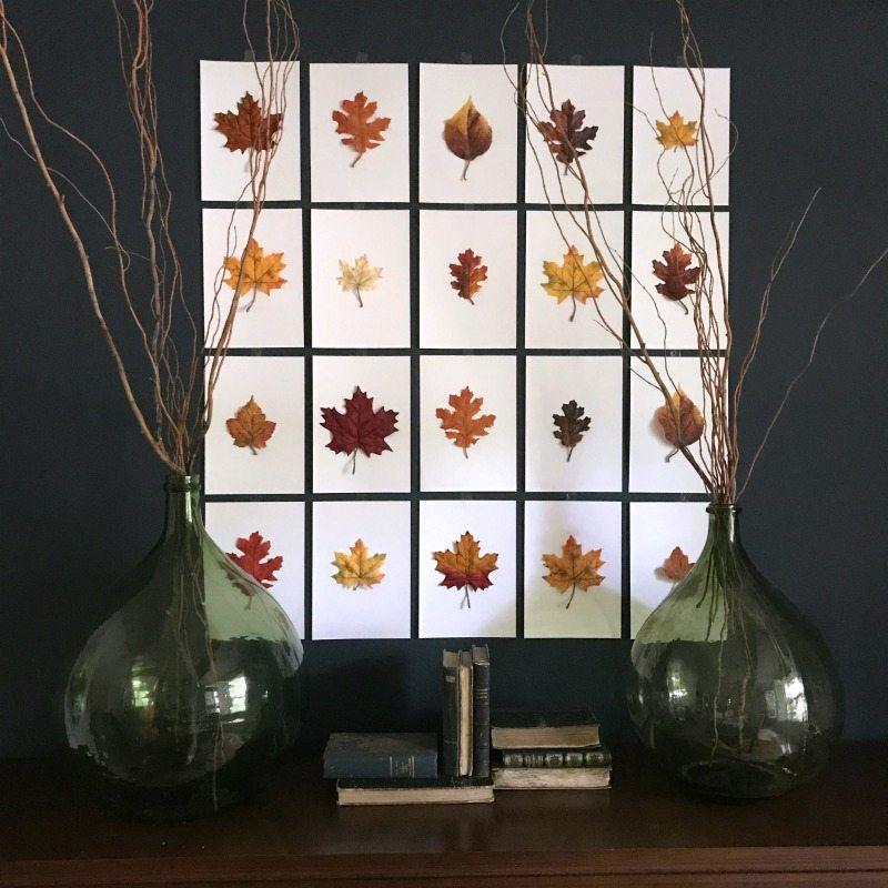 diy leaf wall art