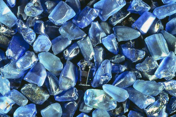 Rough sapphires