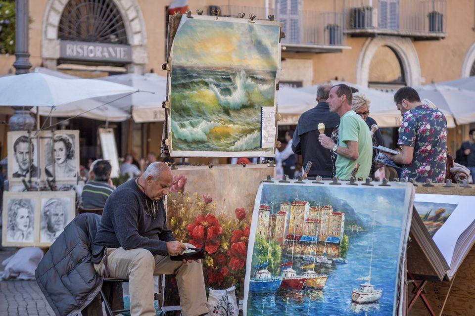 Painter at Piazza Navona, Rome