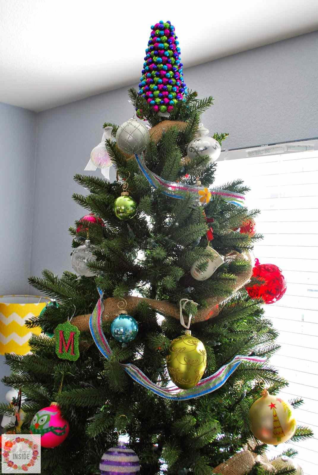Glitter Ball Cone Tree Topper