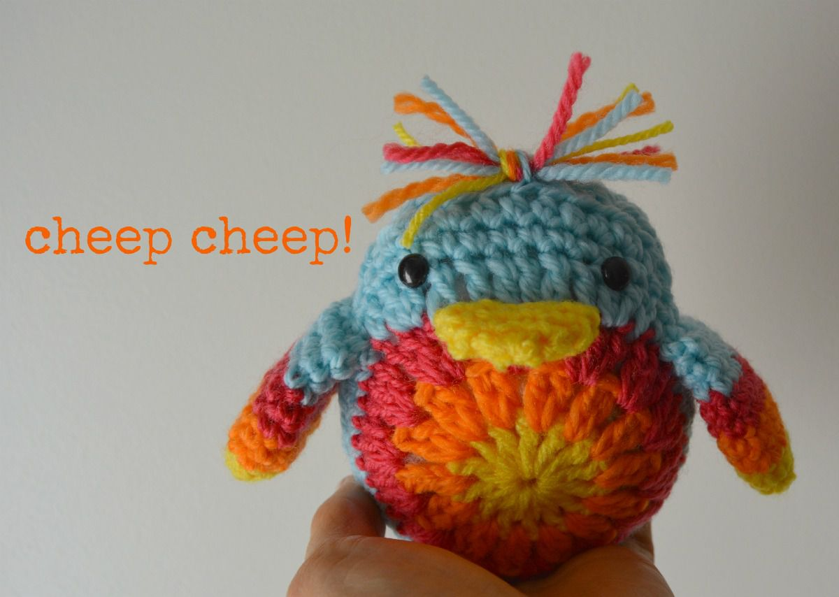 Colorful Easter Chick Crochet Pattern