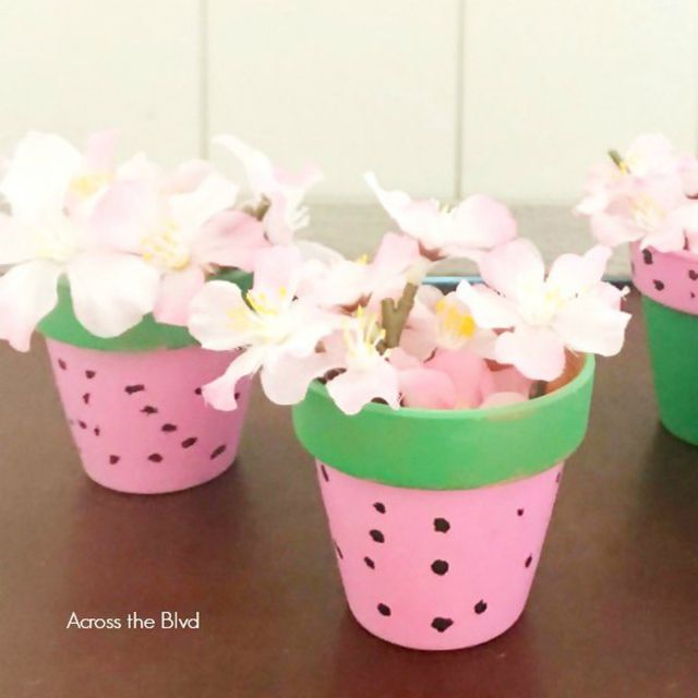 Qatermelon flower pot tutorial