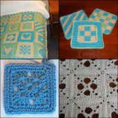 Crocheted Squares and Granny Squares