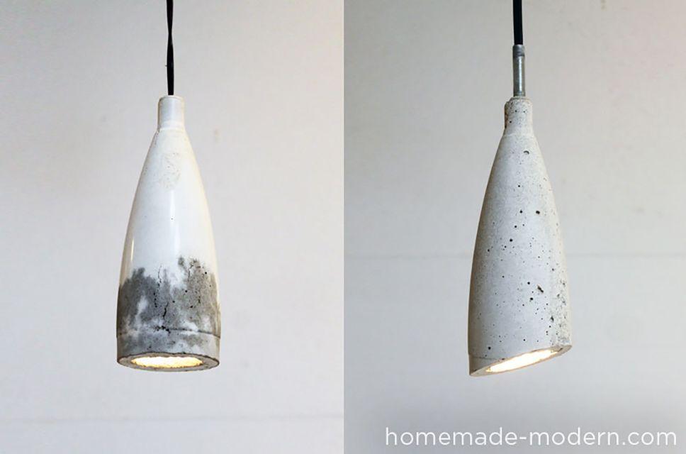 DIY concrete lampshade tutorial