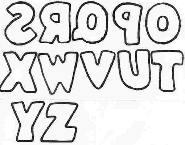 Hand-drawn style block letters O-Z