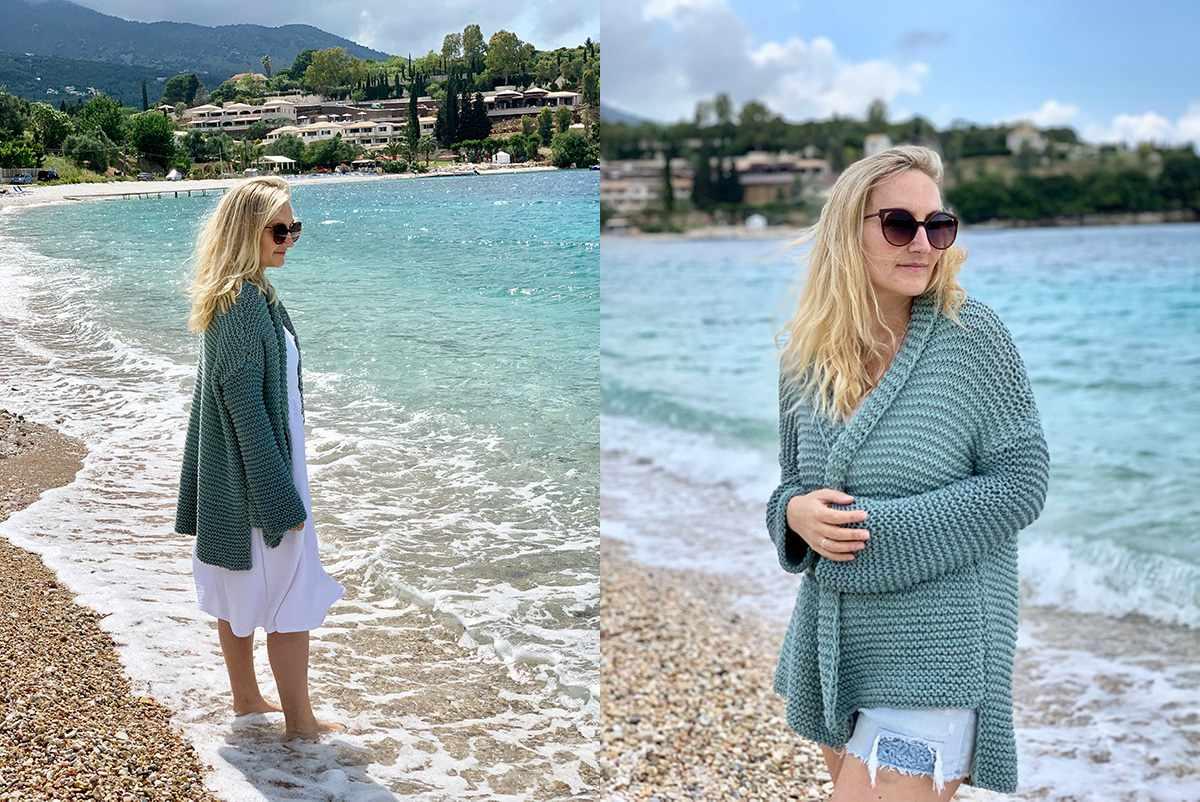 Cotton Comfort Easy Knit Cardigan Pattern