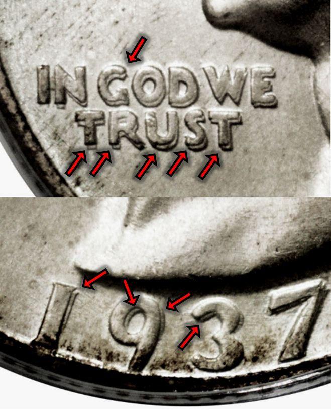 1937 Washington Silver Quarter Doubled Die Obverse (DDO) Variety