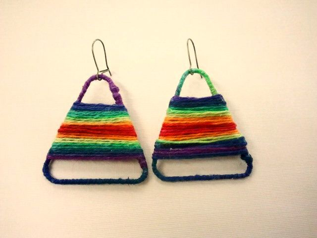 Wrapped paperclip earrings