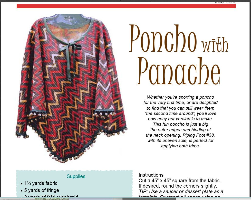 How to Sew a Poncho: 10 Free Patterns and Instructions
