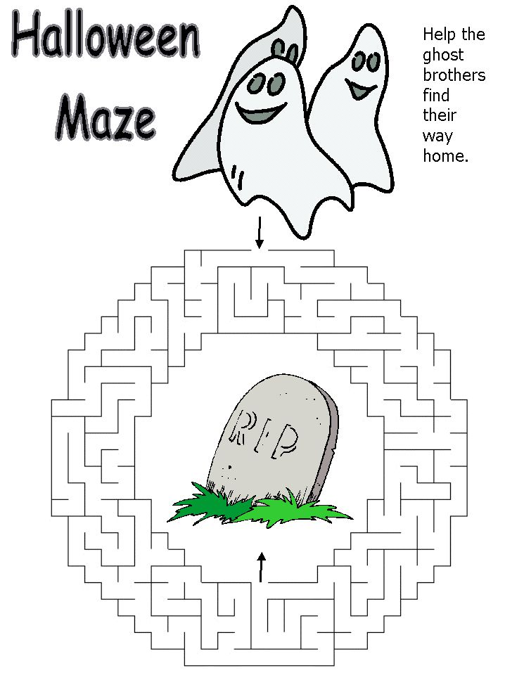 A Halloween Maze With Ghosts on It