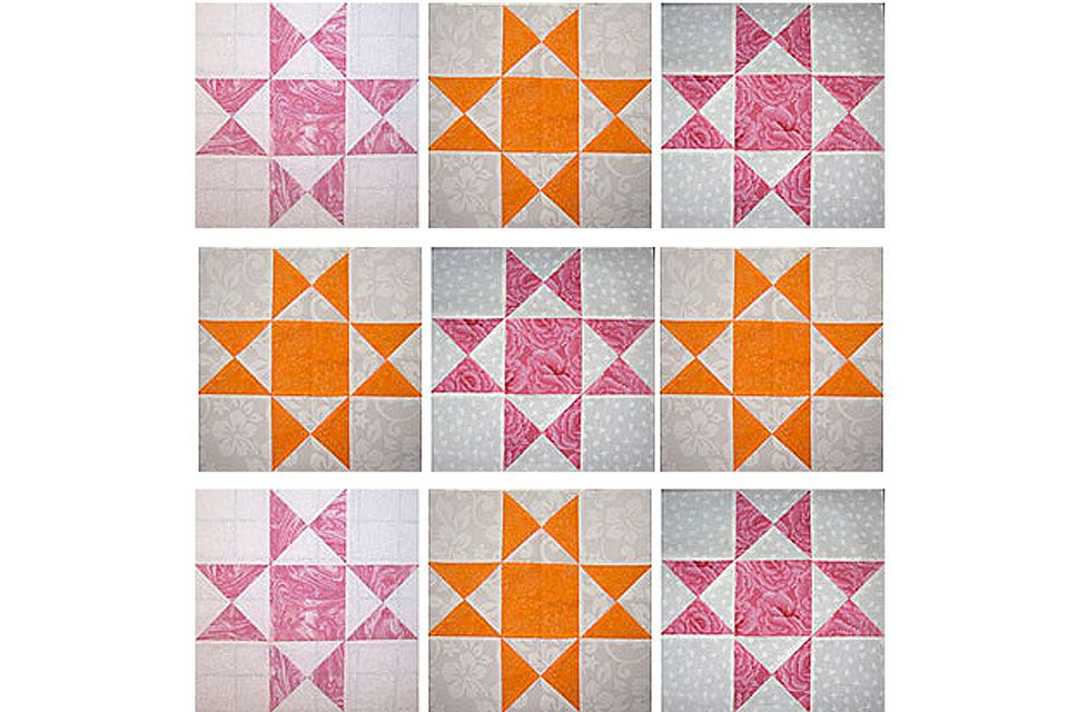 Ohio Star Quilt Block Pattern