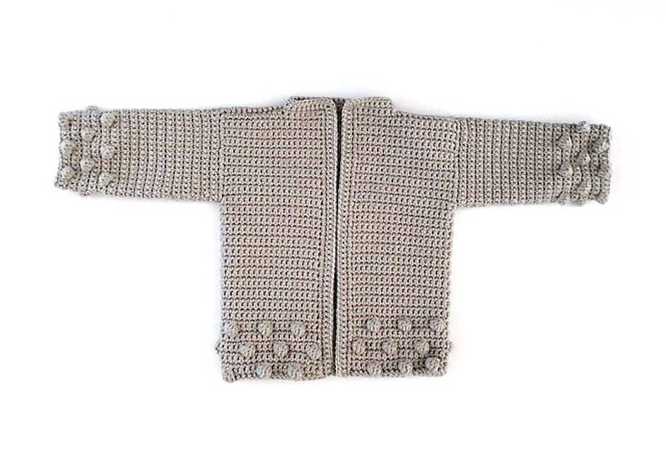 Bobble Crochet Cardigan Pattern for Kids