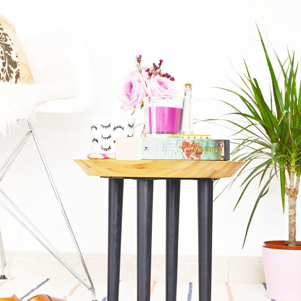 DIY Wood Side Table