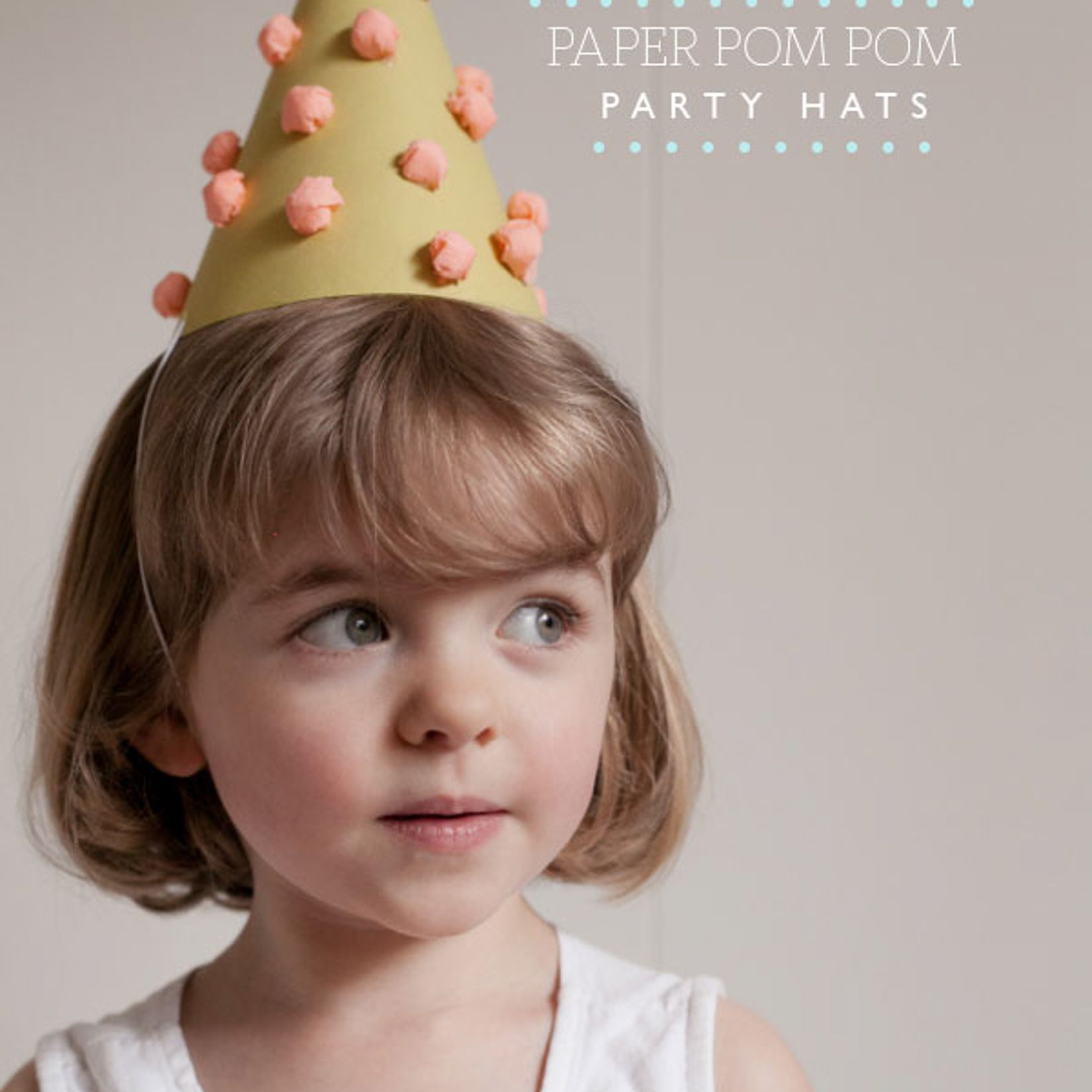 Paper Pom-Pom Party Hat