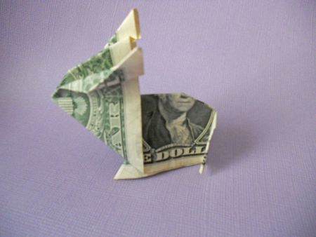 Learn how to make a crafty origami bunny out of cash money origami bunny mightylinksfo