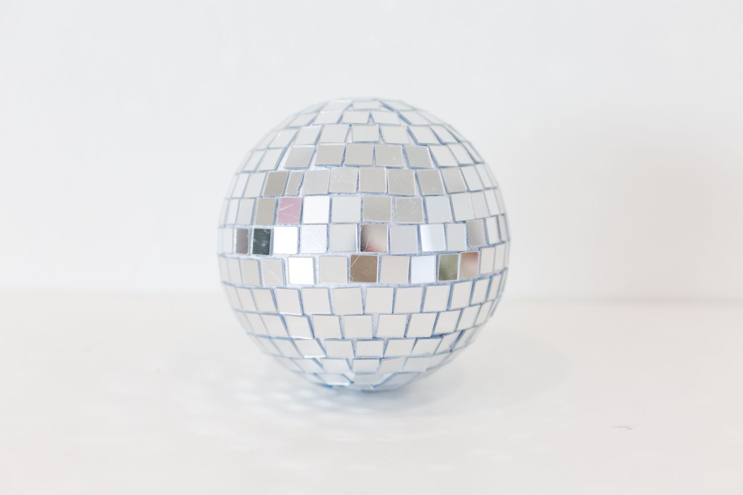 Completed DIY disco ball