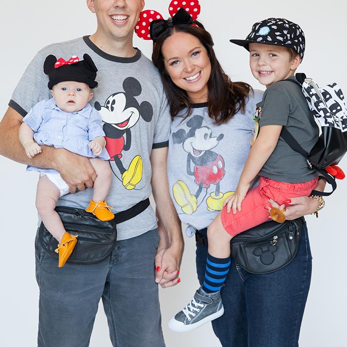 DIY family costume idea: Mickey Mouse