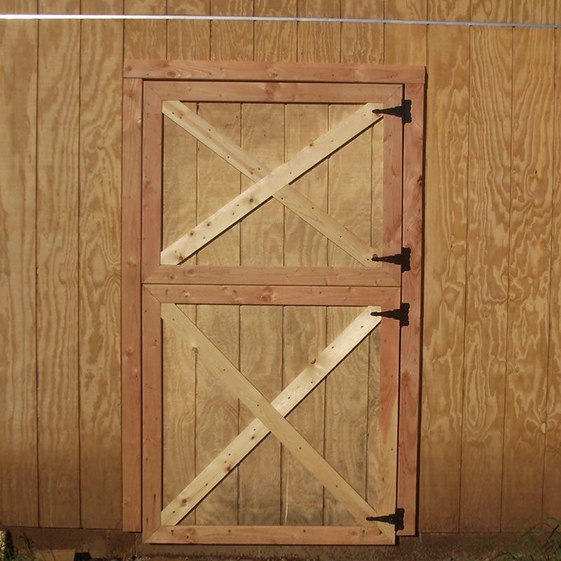 Completed Dutch barn door