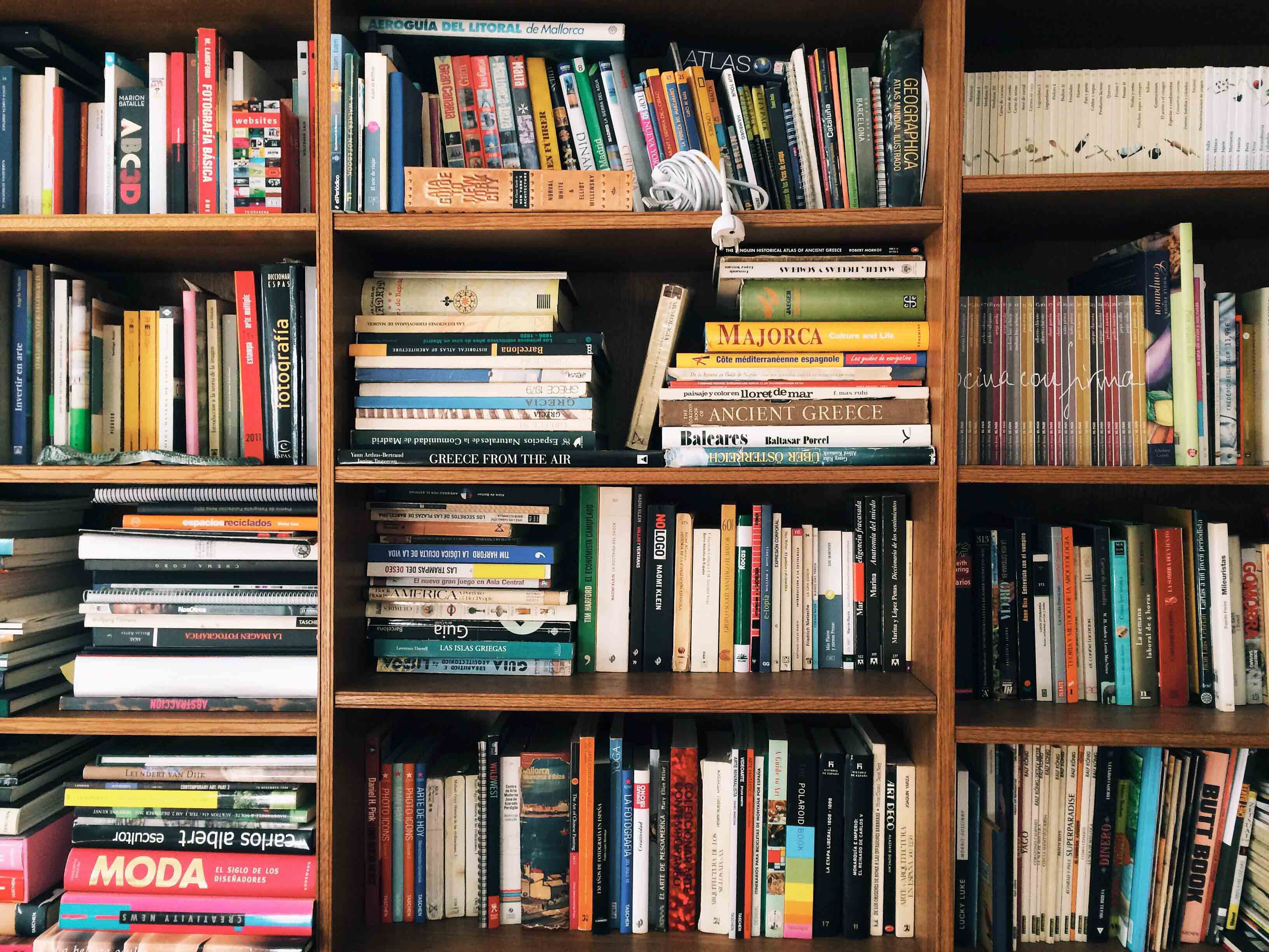 book shelves filled with books