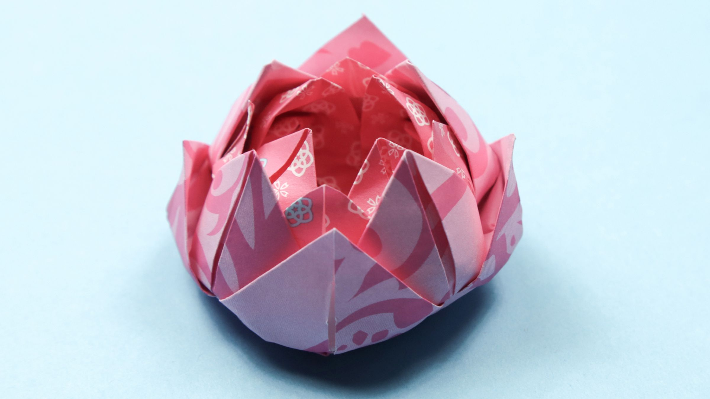 Lotus Flower / Spring Tutorial · How To Fold An Origami Lotus ... | 1350x2400