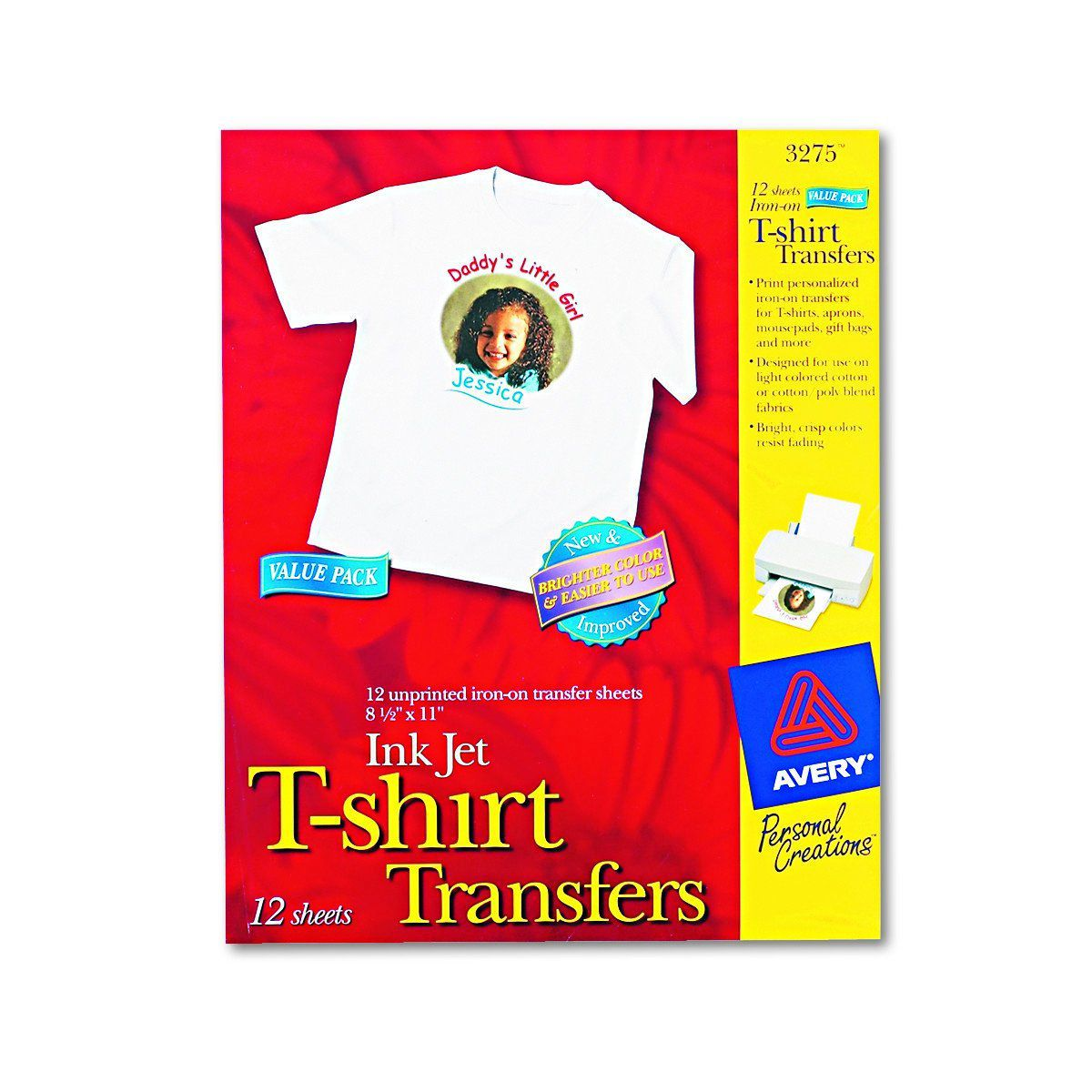 Avery T-Shirt Transfers for Inkjet Printers