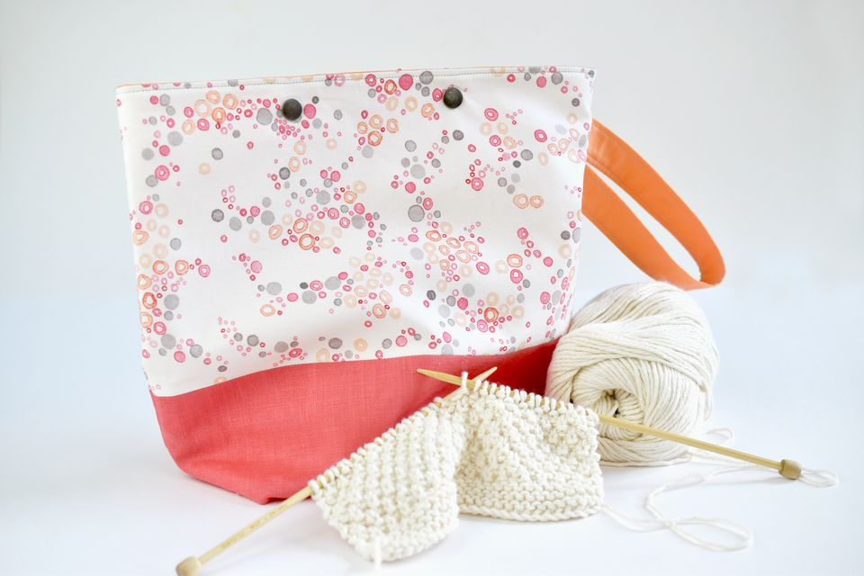 DIY knitting and crochet project bag