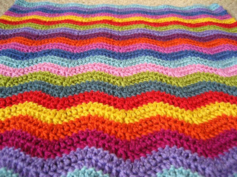 Encantador Patrón Afghan Crochet Chevron Adorno - Manta de Tejer ...