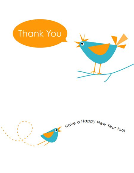 6 Free, Printable New Year Cards for Friends and Family