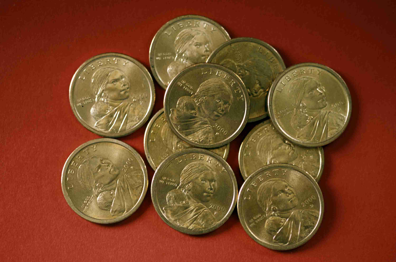 Various Sacajawea dollars
