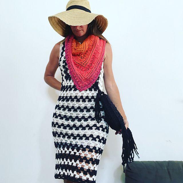 Granny Crochet Dress Free Pattern