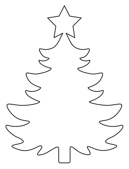 37 christmas tree templates in all shapes and sizes a template for a christmas tree with a star on top maxwellsz