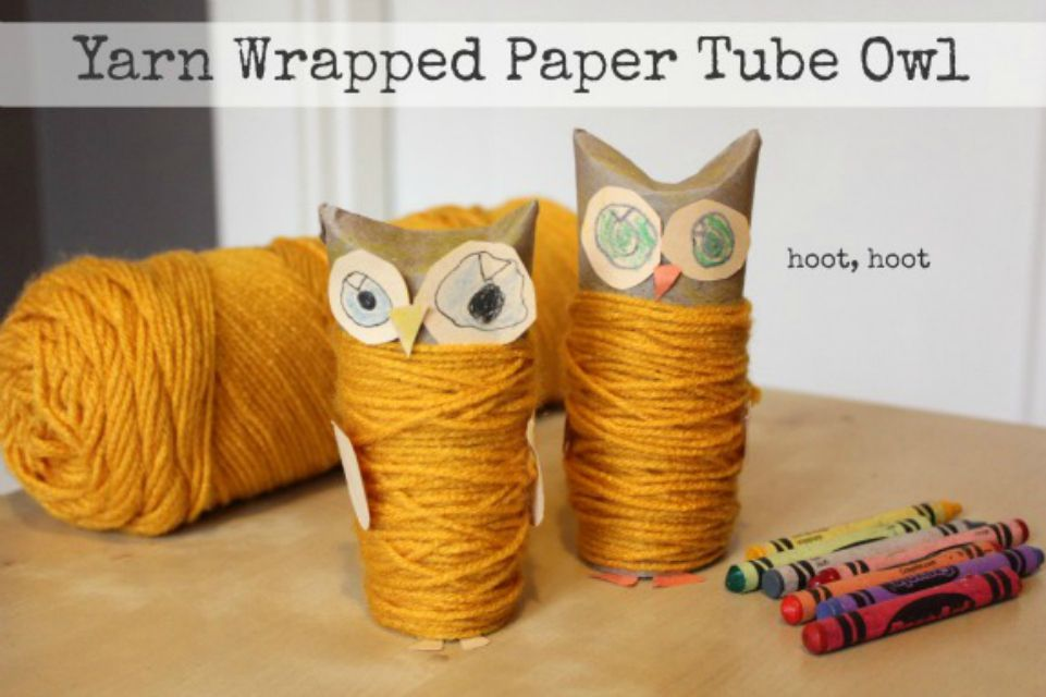 Paper roll owl