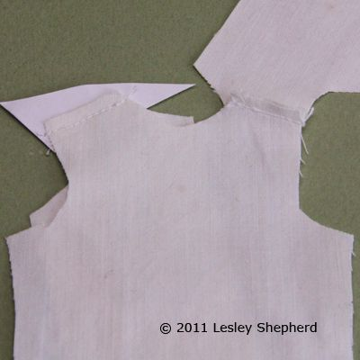 Cut Out Your Doll Lab Coat Pieces And Sew The Shoulder Seam