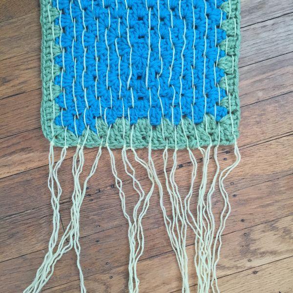 Woven Crochet Wall Hanging