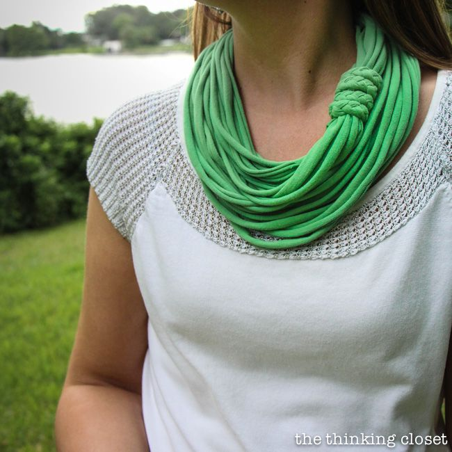 t shirt no sew infinity scarf
