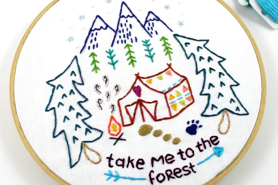 Take Me to the Forest Embroidery Pattern