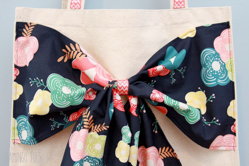 Easy Refashioned Bow Tote