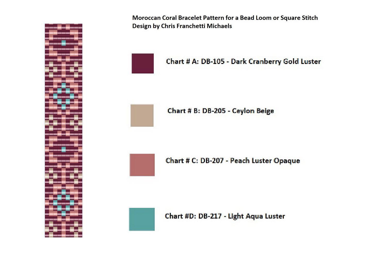 Morrocan coral bracelet pattern