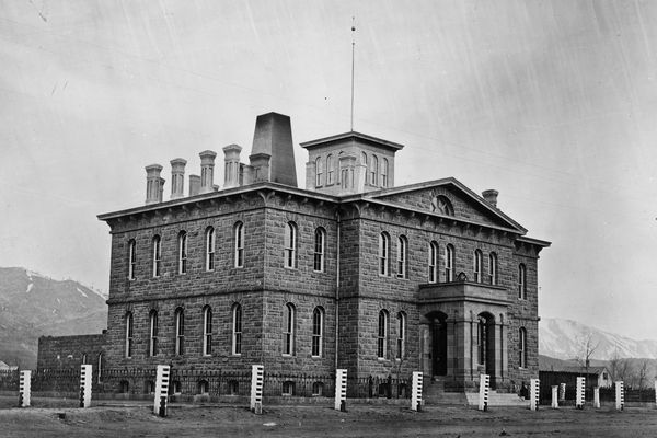 The Carson City Mint in 1866