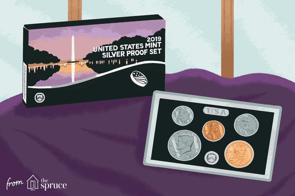 illustration of coin set