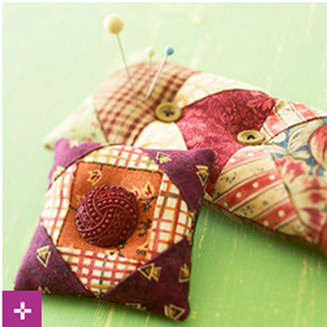 BHG Pincushions from Fabric Scraps