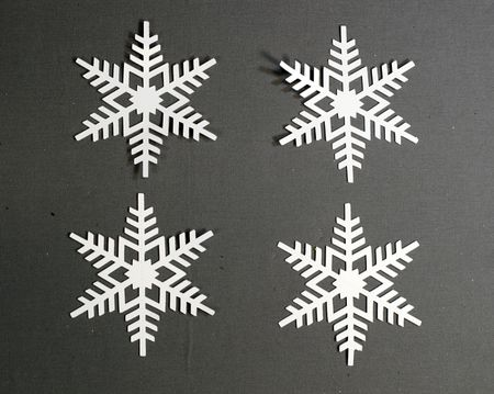 diy 3d paper snowflake christmas ornament step 1