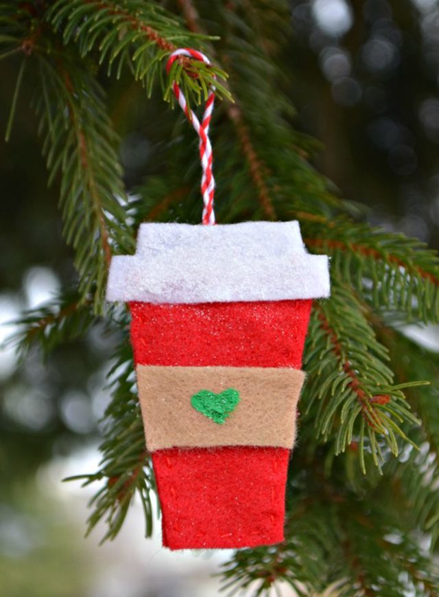 22 diy christmas tree ornaments diy coffee cup ornament solutioingenieria Image collections