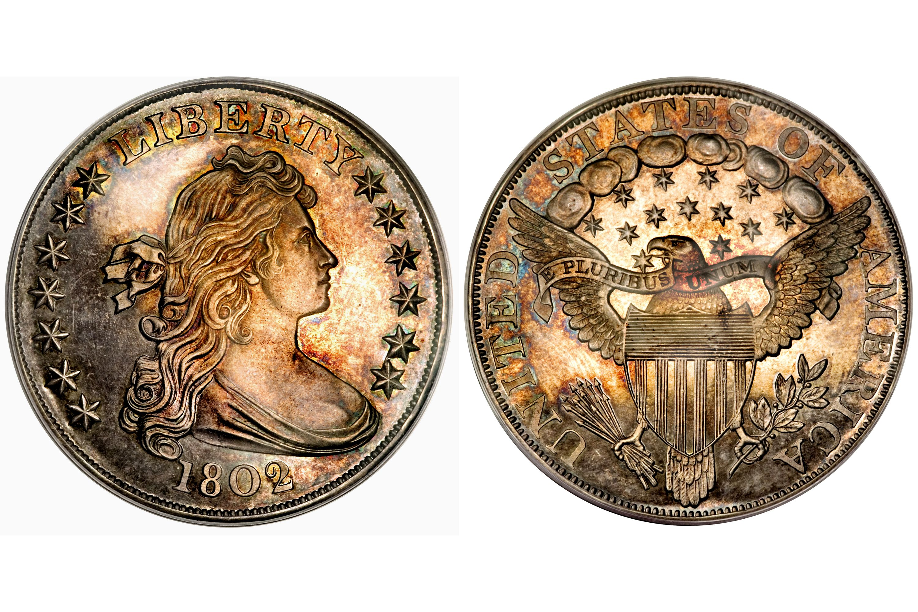 1802 Proof Draped Bust Silver Dollar