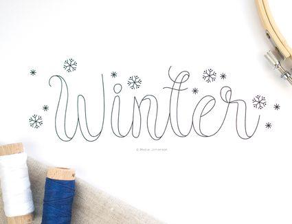 Winter Seasonal Embroidery Pattern