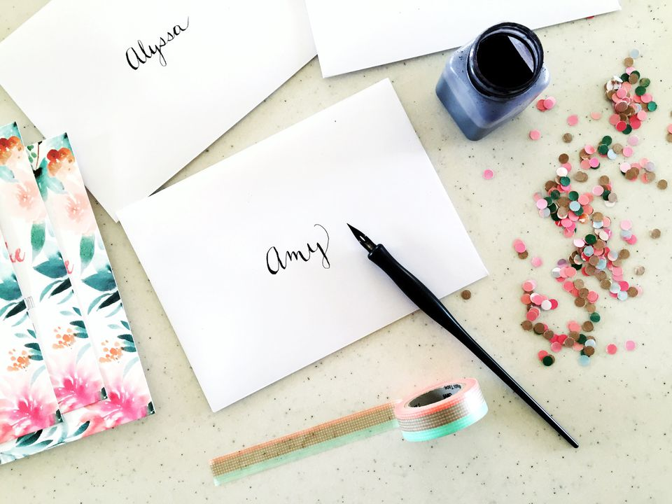 professional card making with calligraphy